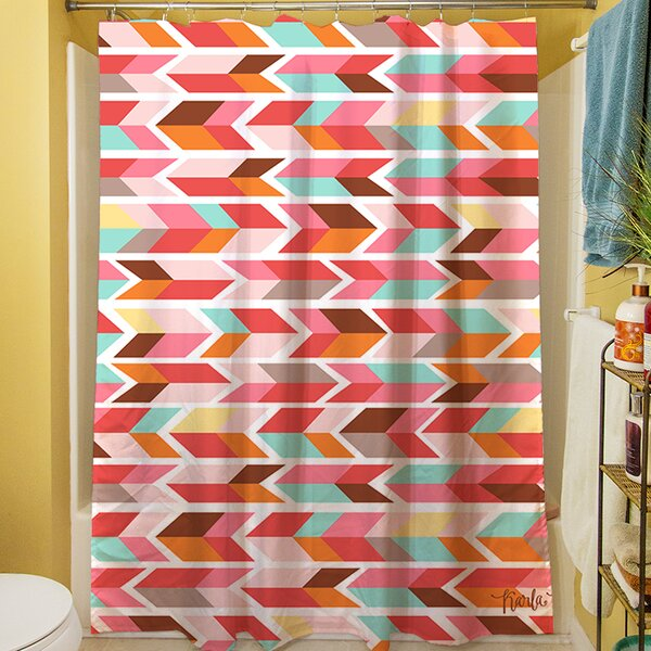 Arrowhead Shower Curtain by Manual Woodworkers & Weavers
