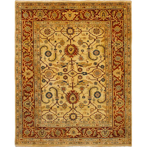 One-of-a-Kind Doerr Hand-Knotted Wool Ivory Area Rug by Isabelline
