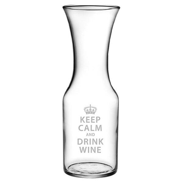 Keep Calm 40.5 oz. Carafe by Susquehanna Glass
