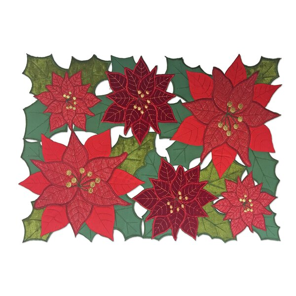 Christmas Allover Rectangular Cutwork Placemat (Set of 4) by Elrene Home Fashions