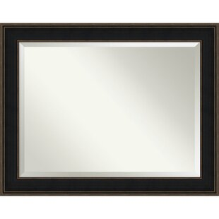 Darby Home Co Rectangle Espresso Accent Mirror