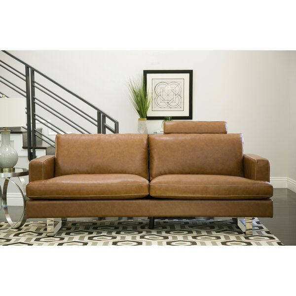 Charles Leather Sofa by Brayden Studio