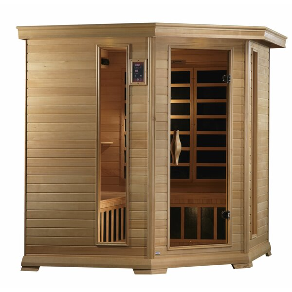 Monte Carlo Corner Near Zero EMF 5 Person FAR Infrared Sauna by Golden Designs