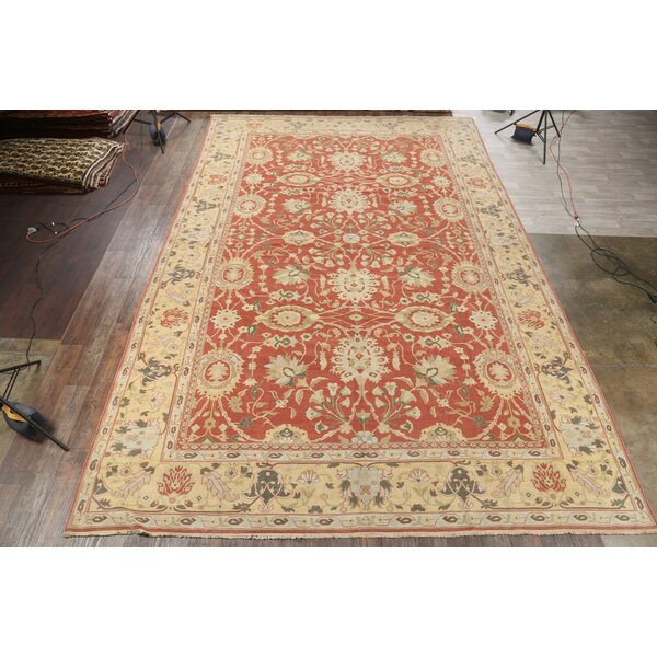 One-of-a-Kind Nabors Hand-Knotted Oushak Orange 12'5 x 18'9 Wool Area Rug
