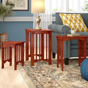 Affordable Peru 3 Piece Nesting Table Set By Charlton Home