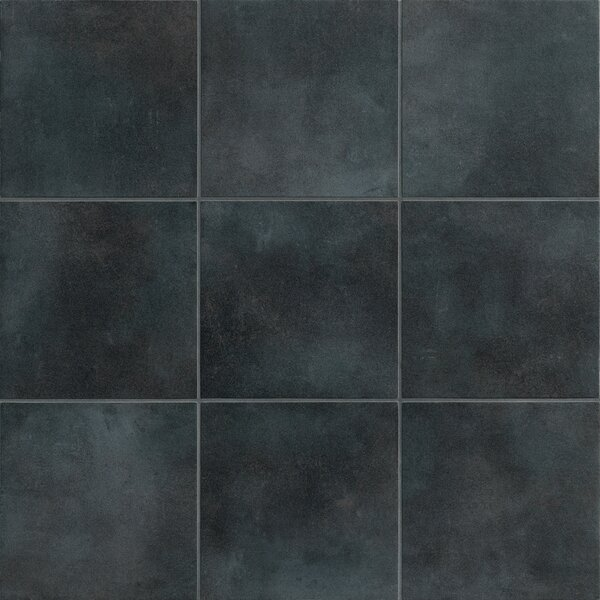 Poetic License 18 x 18 Porcelain Field Tile in Charcoal by PIXL