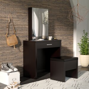 Laporte Vanity Set with Mirror by Wade Logan