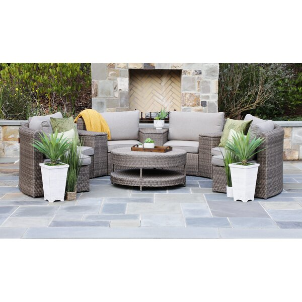 Kimbol 8 Piece Sectional Seating Group with Cushions by Latitude Run