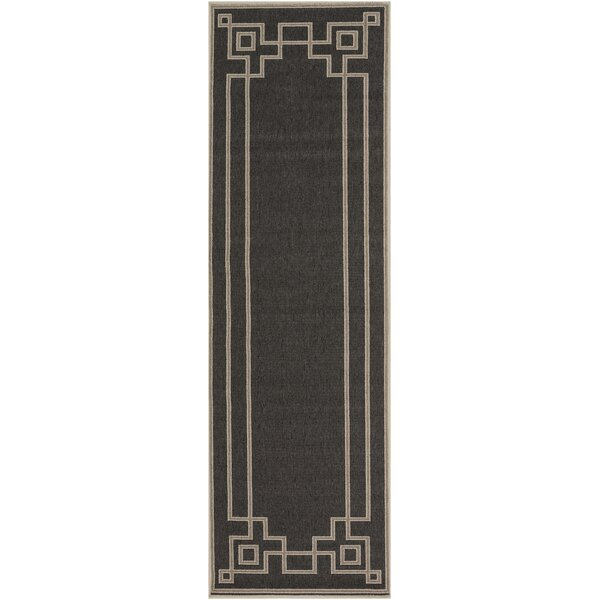 Amherst Black Area Rug by Sol 72 Outdoor