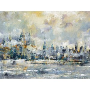 'City Rising' by Carney Framed Painting Print on Wrapped Canvas by Portfolio Canvas Decor