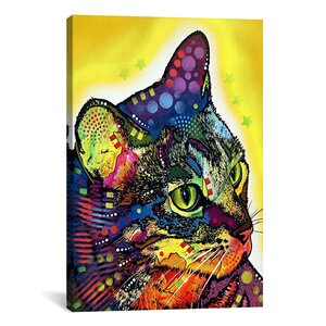 'Confident Cat' Graphic Art on Canvas by Viv + Rae
