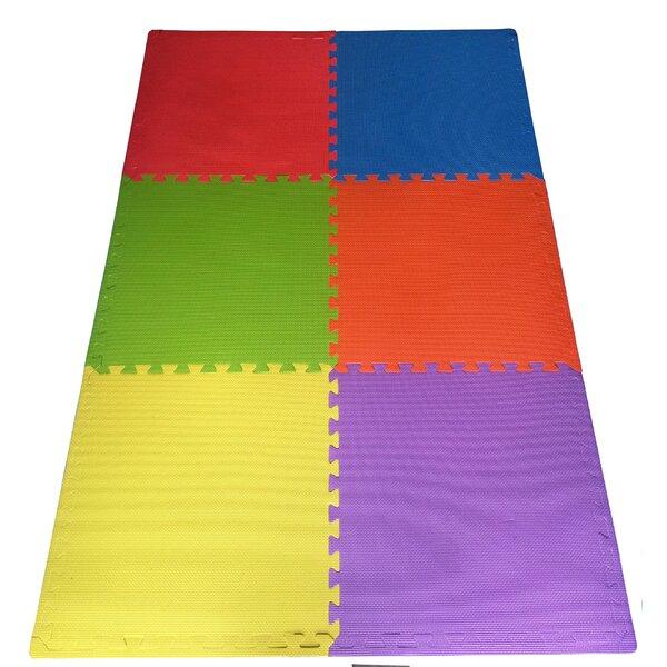 Multipurpose Anti-Fatigue EVA Foam Puzzle Floor Mat (Set of 6) by Ottomanson