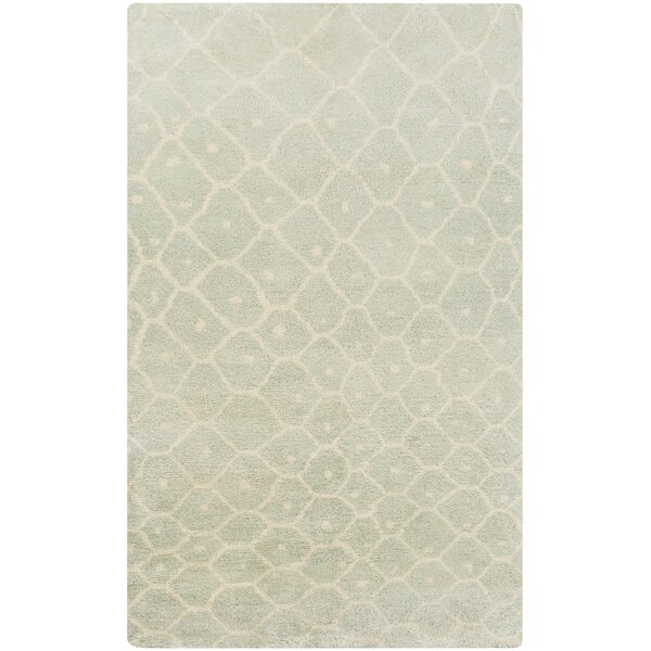 Somers Sea Foam Area Rug by Rosecliff Heights