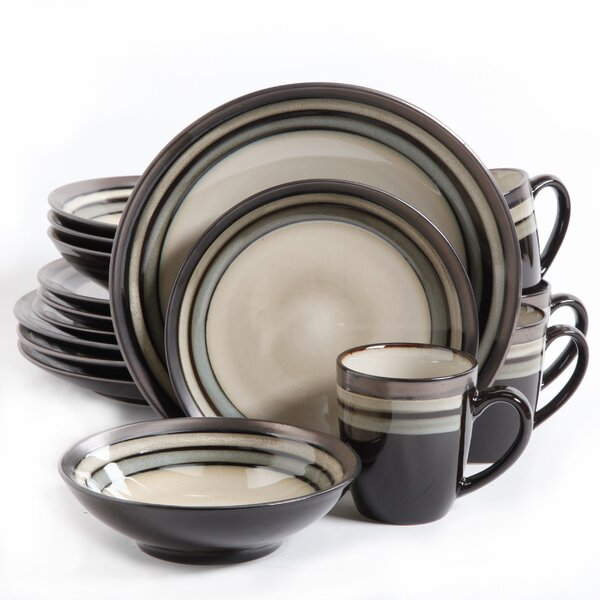 Lakemore 16 Piece Dinnerware Set, Service for 4 by