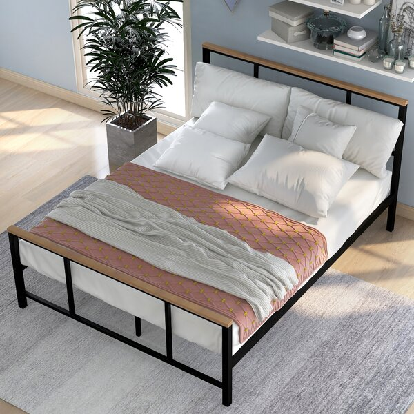 Mathes Metal Platform Bed by 17 Stories