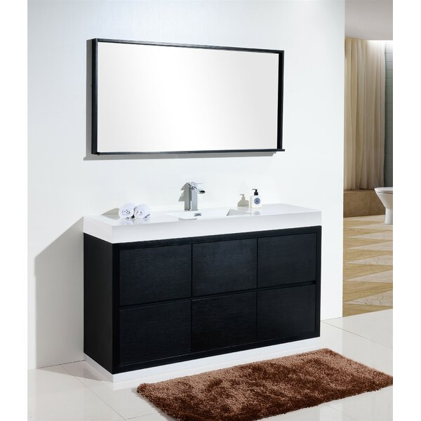 Tenafly 60 Single Bathroom Vanity Set by Wade Logan