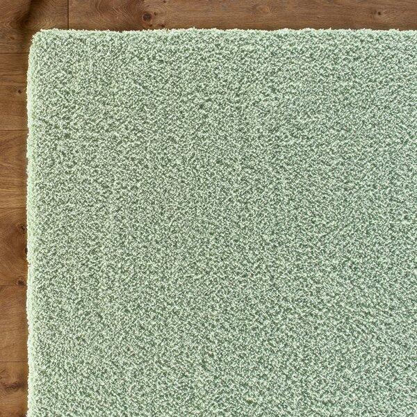 Shaggy Hand-Woven Spearmint Green Area Rug by Birch Lane Kids™