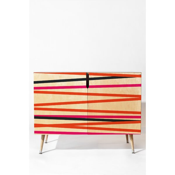 Crew Stripe Warm 2 Door Accent Cabinet by East Urban Home