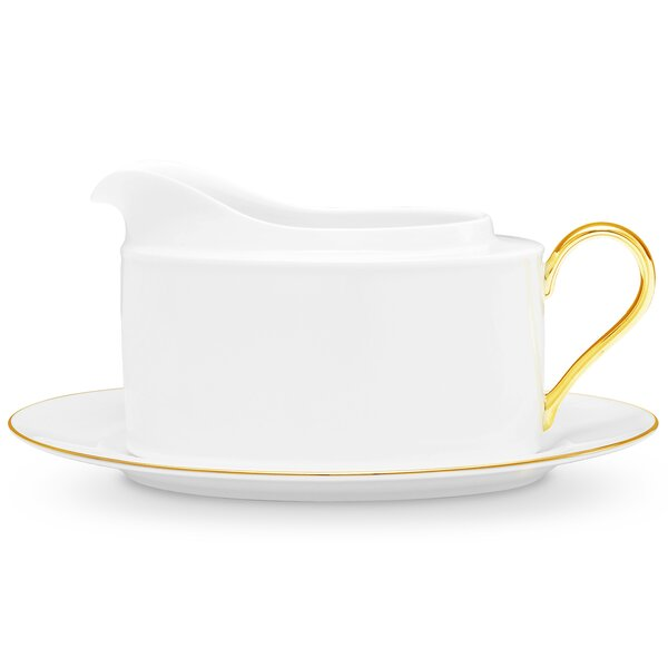 Accompanist 2 Piece Gravy Boat Set by Noritake