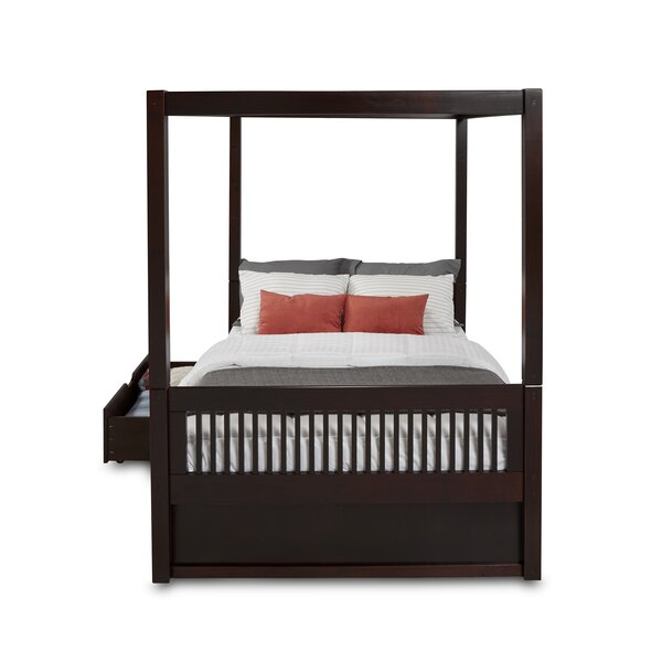 Rabon Full Canopy Bed with Drawers by Harriet Bee