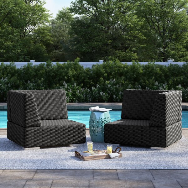 Crowley Wicker Outdoor Sectional Corner Chair by Sol 72 Outdoor