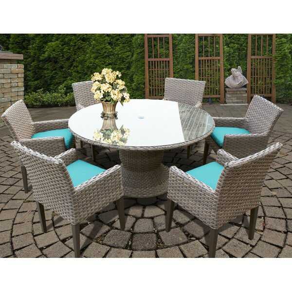 Rochford 7 Piece Dining Set with Cushions by Sol 72 Outdoor