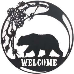 Bear Welcome Sign Wall Décor by Millwood Pines