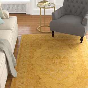 Eaddy Hand-Tufted Sunflower/Gold Area Rug by Charlton Home