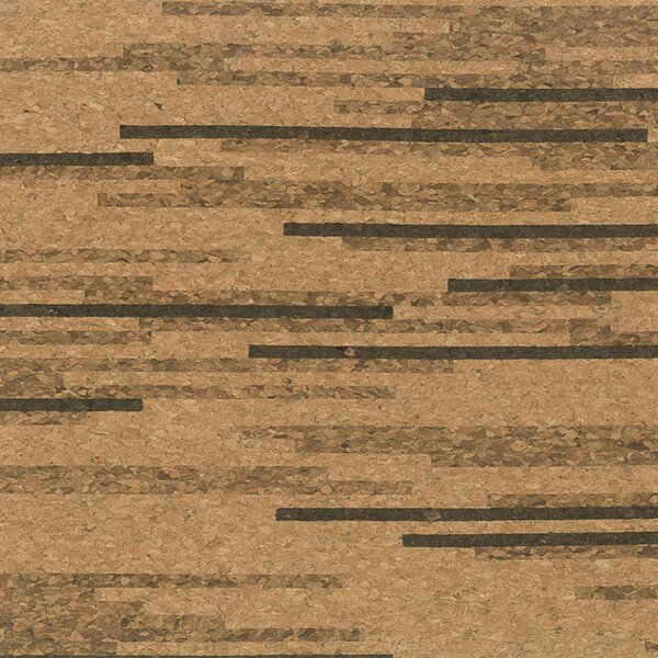 Floor Tiles 12 Solid Cork Hardwood Flooring in Tigress by APC Cork