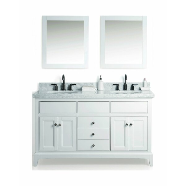 McCall Solid Wood 61 Single Bathroom Vanity Set with Mirror by Laurel Foundry Modern Farmhouse