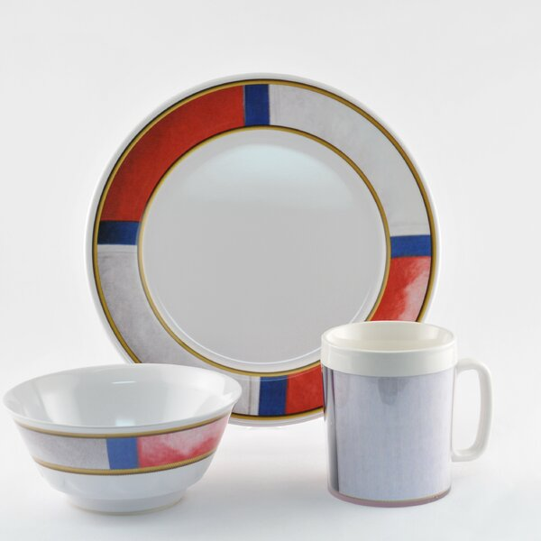Decorated Life Preserver Melamine 12 Piece Dinnerware Set, Service for 4 by Galleyware Company