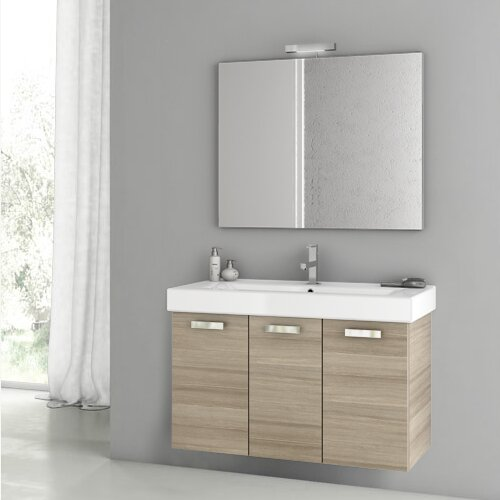 Cubical 2 41 Single Bathroom Vanity Set with Mirror