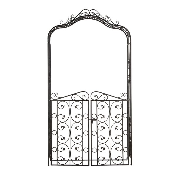 Traditional Iron Scrollwork Garden Trellis by Cole & Grey