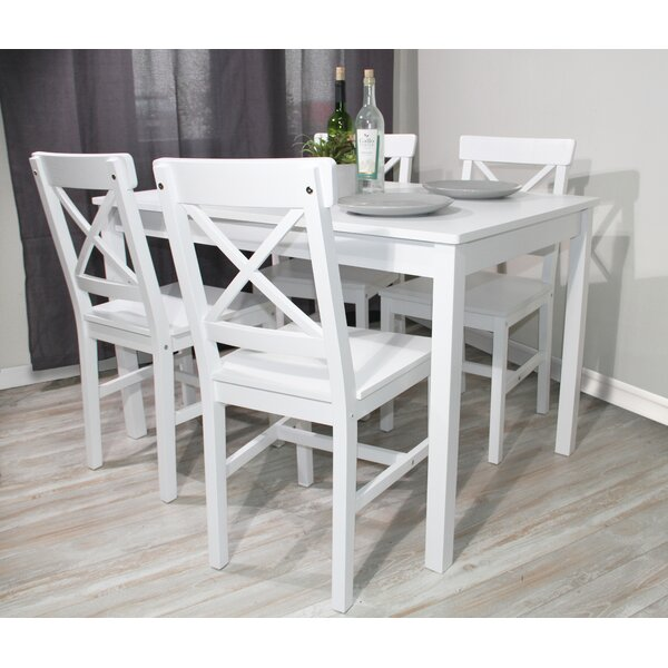 3 Piece Dinner Set Solid Wood Dining Table by Red Barrel Studio
