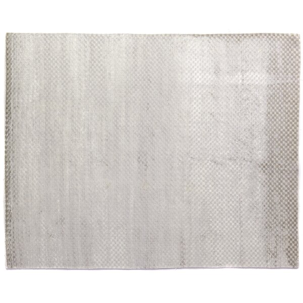 Dove Oxford Hand-Woven Silver Area Rug by Exquisite Rugs
