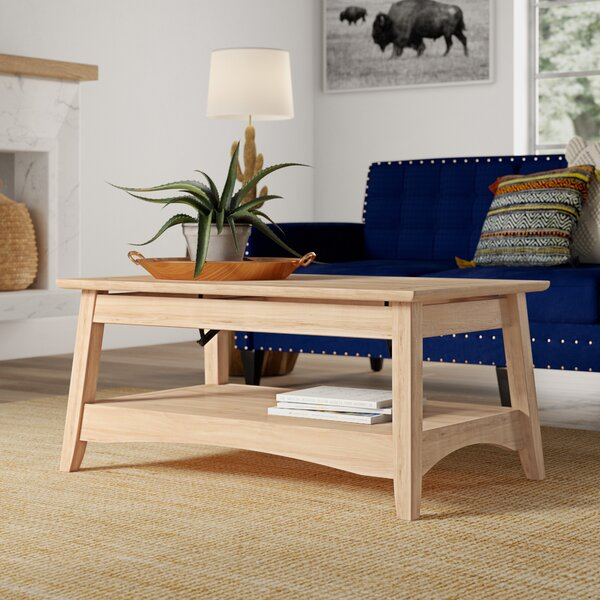 Lynn Solid Wood Lift Top Extendable Coffee Table By Mistana