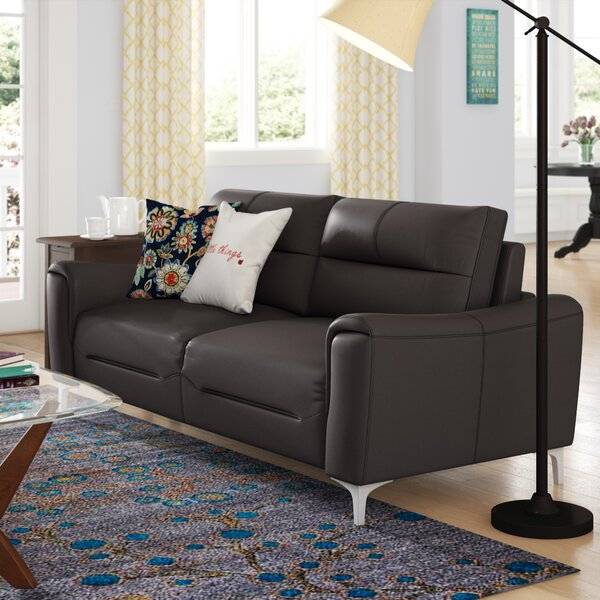 Malissa Leather Sofa by Orren Ellis
