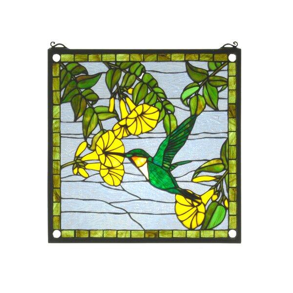 Hummingbird Stained Glass Window by Meyda Tiffany