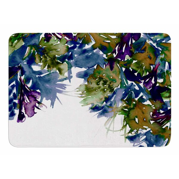 Floral Cascade 4 by Ebi Emporium Memory Foam Bath Mat by East Urban Home