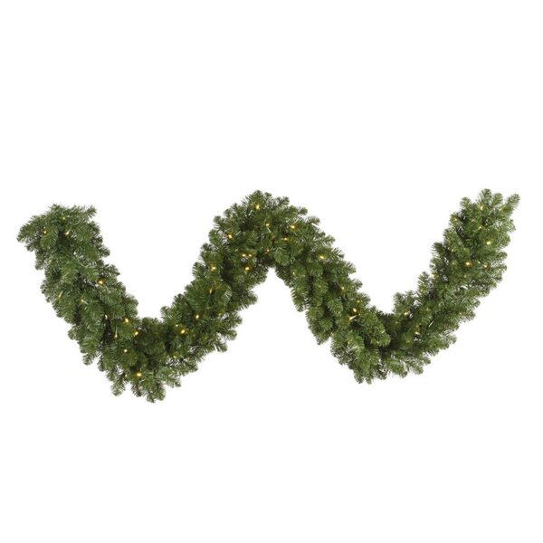 Grand Teton Commercial Length Artificial Christmas Garland with Lights by Vickerman