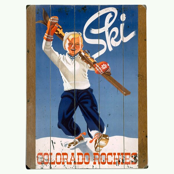 Ski Colorado Vintage Advertisement Multi-Piece Image on Wood by Artehouse LLC