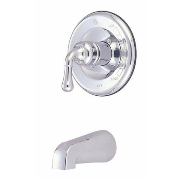 Single Handle Wall Mount Tub Only Faucet Lever Handle by Elements of Design