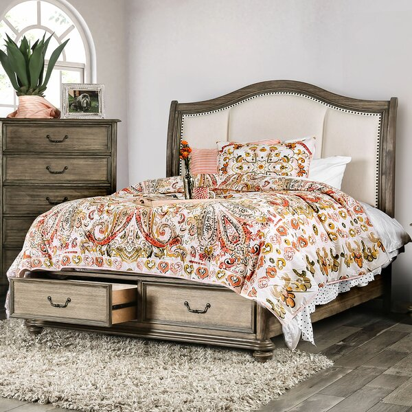 Thelma Upholstered Storage Standard Bed by Canora Grey