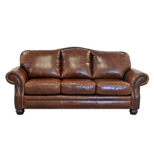 Parker Genuine Top Grain Leather Sofa by Westland and Birch