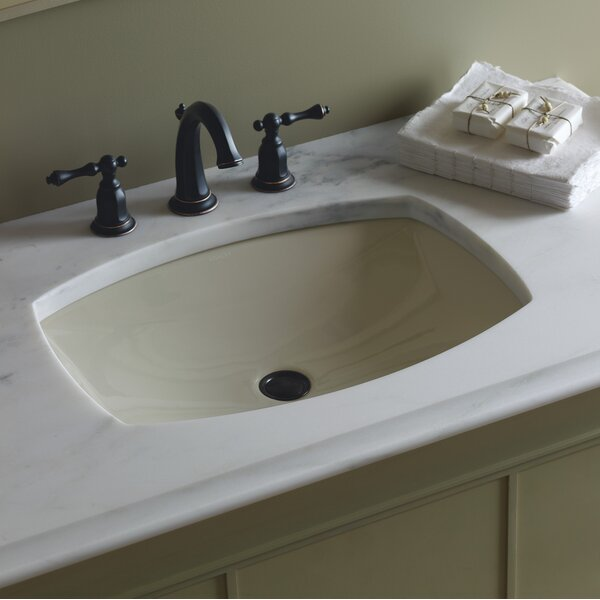 Kelston® Ceramic Rectangular Undermount Bathroom Sink with Overflow by Kohler