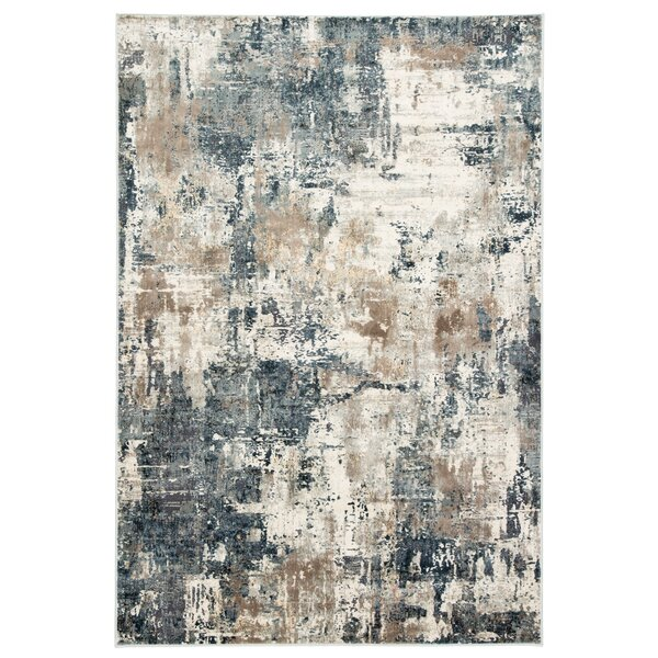Ramsgate Abstract Beige/Blue Area Rug by Williston Forge