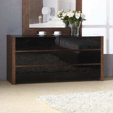 Metro 6 Drawer Double Dresser by Hokku Designs