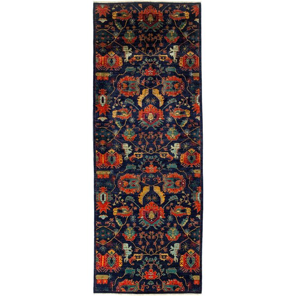 One-of-a-Kind Eclectic Hand-Knotted Navy Area Rug by Darya Rugs