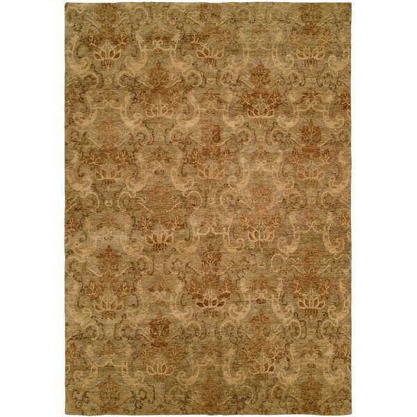 Seattle Hand-Knotted Beige Area Rug by Wildon Home ®