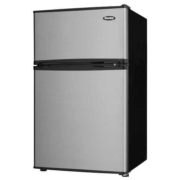 Two Door Compact 3.2 cu. ft. Compact/Mini Refrigerator with Freezer by Danby